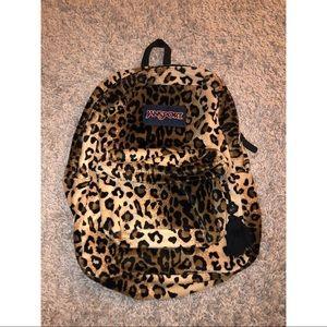 Leopard Print JanSport Backpack